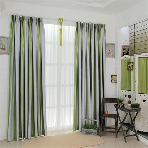 green walls grey curtains grey and green striped curtains are fresh and causal