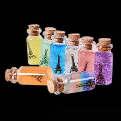 glass bottle crafts for 8pcs glass vial bottles with cork crafts jewellery mini