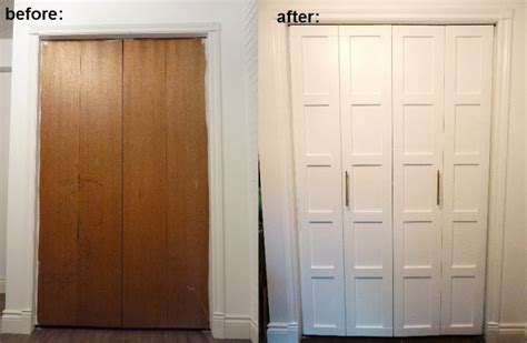 bifold closet door repair replacing closet doors we own blackacre before and after