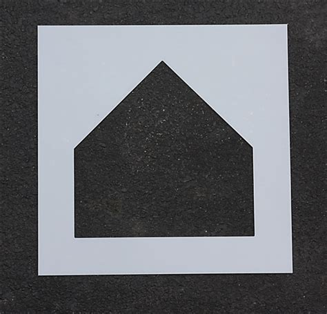 rae products plastic paint stencil 17 inch batters box 1
