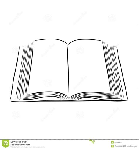 how to draw a picture of a book open book draw stock vector image 43063319