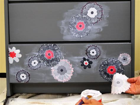 fabric decoupage dresser how to update furniture with fabric how tos diy
