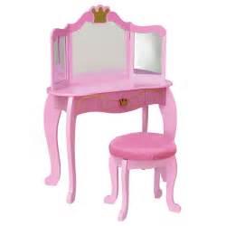 kid craft vanity kidkraft pink princess bedroom vanity set 76125