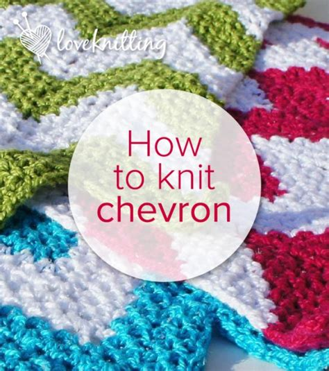 how to knit stripes in the the traditional chevron loveknitting