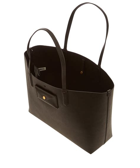 marc black leather tote marc by marc black leather metropolitote 48 tote bag in black lyst