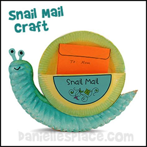 snail paper plate craft snail mail paper plate craft for from www