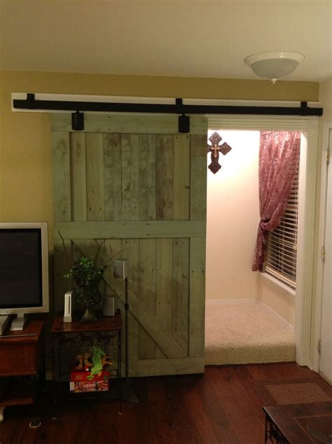 barn doors for homes interior rustic interior sliding barn door for home in green decofurnish