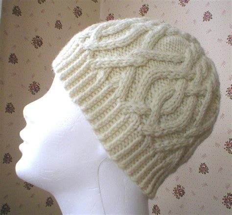 cable knit hat pattern interlocking cable hat by dawnbrocco craftsy