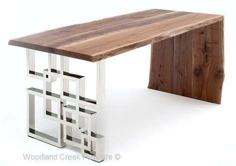 modern wooden desk live edge desk modern wood desk slab desk chic