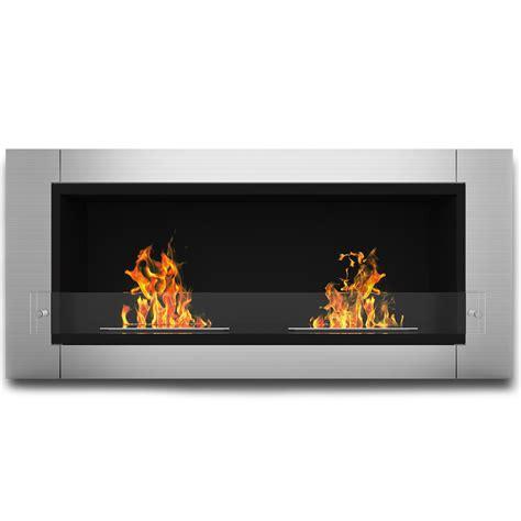 wall mounted ethanol fireplace elite fargo ventless bio ethanol wall mounted fireplace