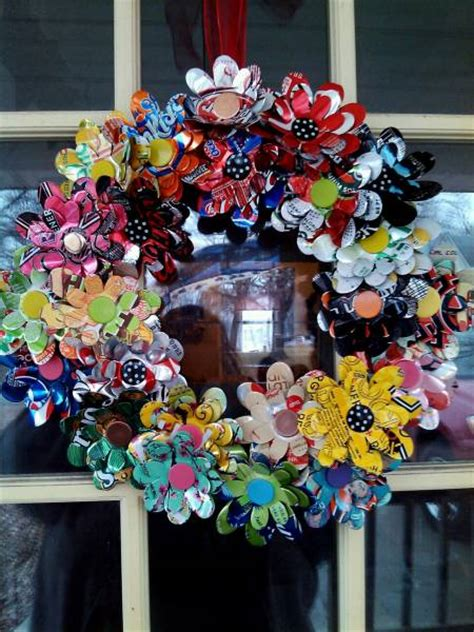 soda can crafts for soda can flower wreath by sjreeke cards and paper crafts