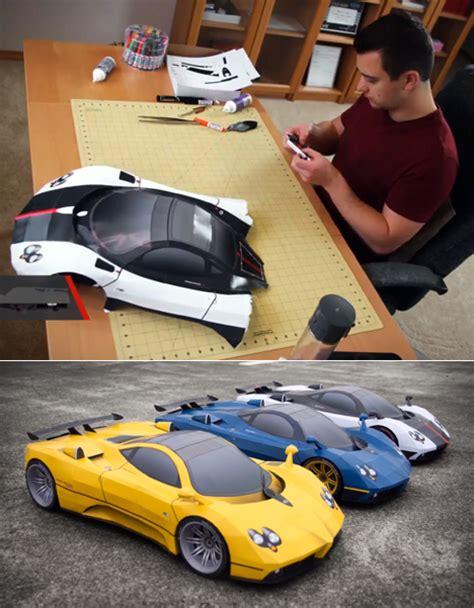 paper craft car papercraft car modeling skillz core77