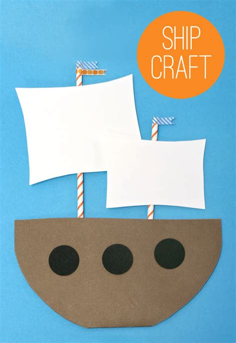 boat craft make a mayflower paging supermom