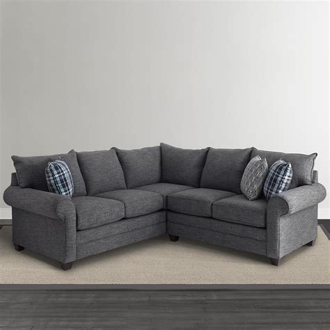 l shaped sectional sofas alex l shaped sectional sofa living room bassett furniture