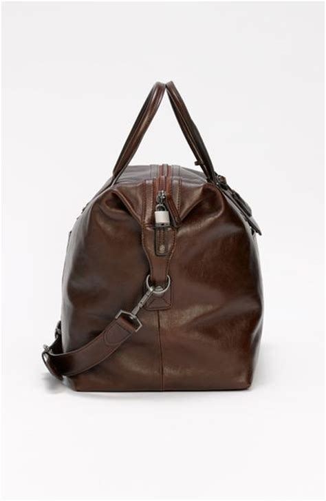 kenneth cole leather bag kenneth cole heritage leather duffel bag in brown for lyst