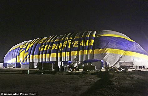los angeles rubber st company goodyear blows up new home for airship an