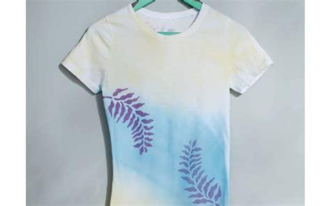 spray painting t shirts leaf t shirt project fabrics fashion accessories spray