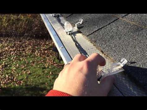 light for gutter guards installing lights with gutter guards