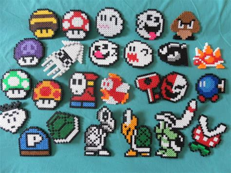 mario perler bead nintendo mario perler bead magnets choose by