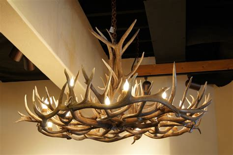 deer horn chandeliers the peak antler company august 2011