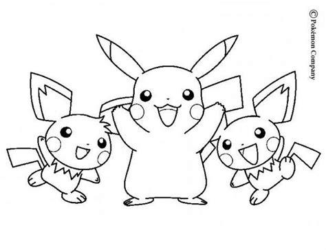 Coloriage Pokemon Pichu Et Pikachu