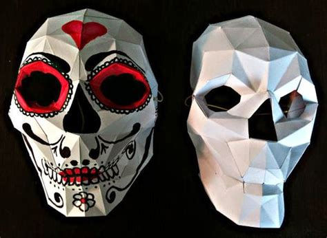 paper craft skull papermau make your own werable skull mask paper model