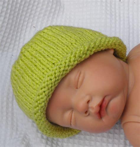 baby knit hat beanie knit pattern