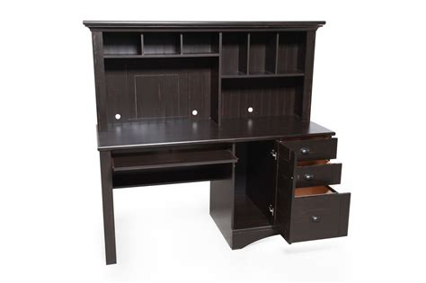 sauder harbor view computer desk with hutch sauder harbor view antiqued black computer desk with hutch