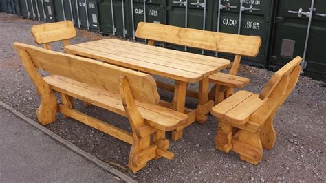 solid pine chunky handcrafted wooden outdoor garden