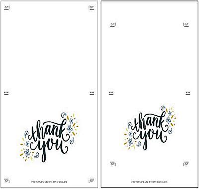 make your own printable thank you cards templates to make your own thank you cards free image