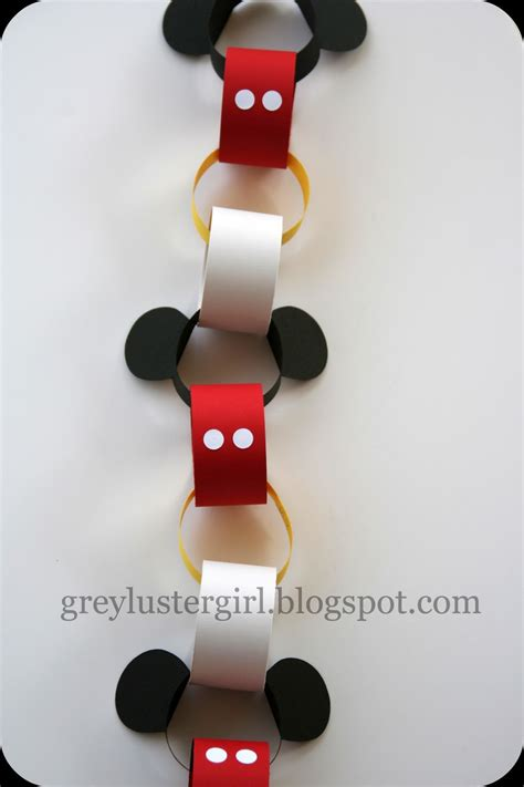 disney crafts disney countdown chain tutorial with mickey ears template