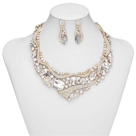 Bridal Jewellery Set Rhinestone Wedding Jewelry Set
