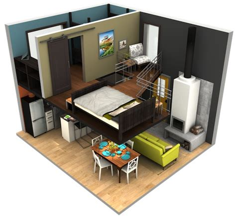tack tiny house malissa tack s tiny house big loft design in 3d tiny