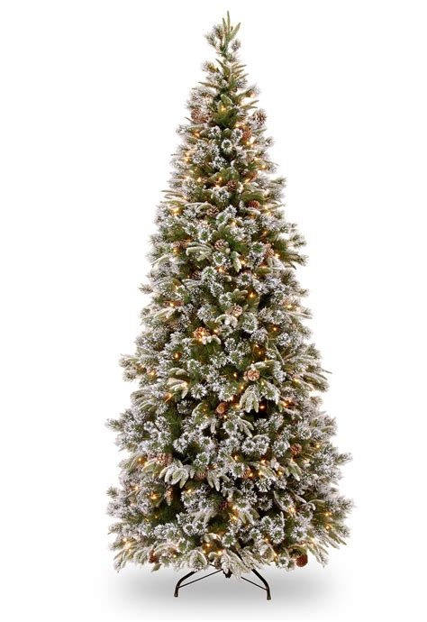 slim trees pre lit 6ft pre lit liberty pine slim decorated feel real