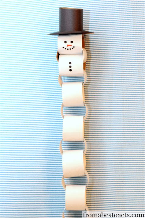 paper chain craft paper chain snowman countdown