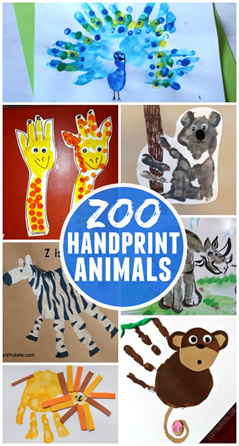 zoo animal crafts for image gallery handprint animals
