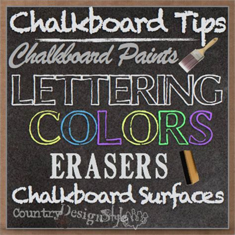 diy chalkboard tips chalkboard tips country design style