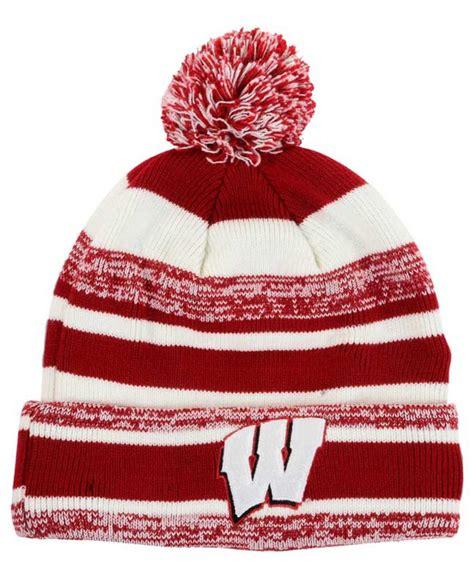 wisconsin badgers knit hat ktz wisconsin badgers sport knit hat in for lyst