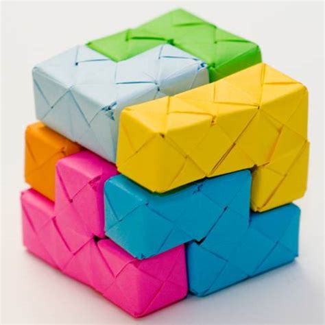 Origami Soma Cube Blocks Neatorama