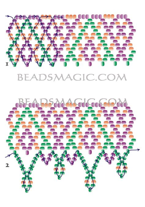 free beading patterns seed free pattern for necklace brigitte magic