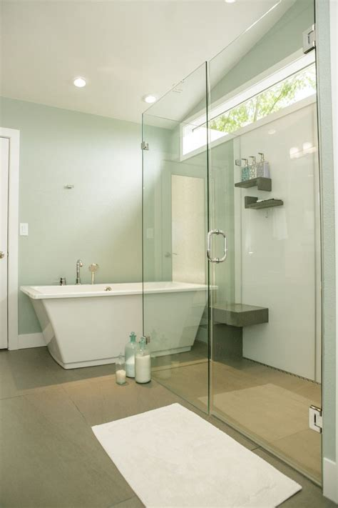 Glass Block Designs For Bathrooms create a seamless look with a barrier free shower base