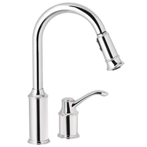menards moen kitchen faucets moen aberdeen single handle high arc pulldown kitchen faucet at menards 174