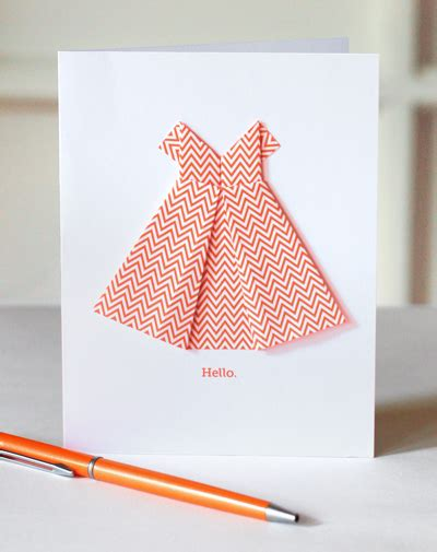 easy origami dress make an origami dress card how about orange