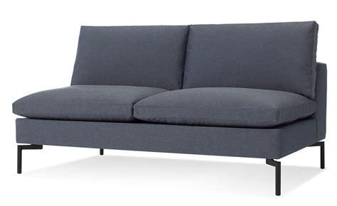 modern armless sofa new standard armless sofa hivemodern