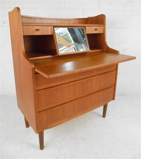 modern teak desk scandinavian modern teak vanity or writing desk for sale