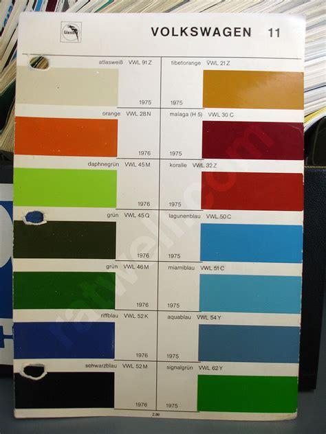 original paint colors vw 68 vw transporter original colors haku original