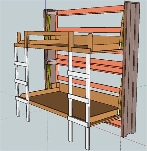 bunk beds building plans here building plans for murphy bunk beds neas