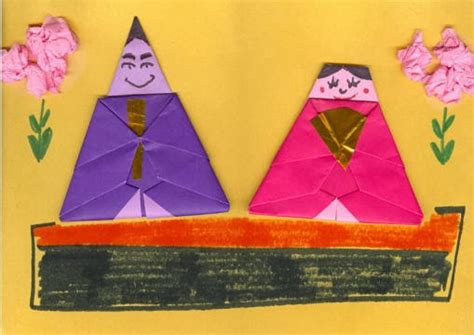 origami paper substitute japan society origami hina doll