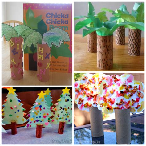 craft ideas using paper toilet paper roll tree craft ideas for crafty morning