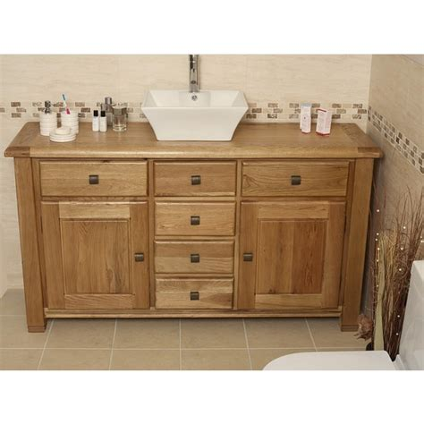 large bathroom vanity units ohio large rustic oak bathroom vanity unit click oak